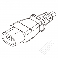 USA/Canada IEC 320 C1 Plug Connectors 2-Pin 2.5A 250V