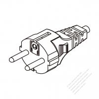 Russia 3 Pin Plug/ Cable End Cut AC Power Cord - Molding PVC 1.8M (1800mm) Black  (H03VV-F  3G 0.75mm2 )
