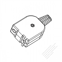 USA/Canada AC Connector 2-Pin Electric Cooker Connectors and inlets 15A 125V