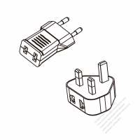 US 2-Pin to Europe/UK Adapter Plug (No voltage conversion function)