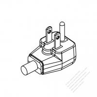 Taiwan/ Japan 3-Pin Elbow AC Plug, 7A/11A/15A 125V