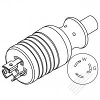 usa canada rv ac plug nema tt 30p 2 p 3 wire grounding elbow 30 Twist Lock Connector usa canada nema l5 15p twist locking ac plug 2 p 3