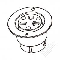 usa canada nema 5 15r 20r hospital receptacle yoke 2 p 3 wire 220 Plug Types usa canada nema 6 15r 6 20r outlet 2 p 3