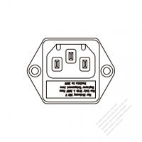 AC Socket IEC 60320-1 (C14) Appliance Inlet (fuse), Screw Type, 10A 250V