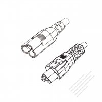 Europe 3-Pin IEC 320 Sheet A Plug to IEC 320 C5 Power cord set (HF - Halogen free) 1.8M (1800mm) Black (H03Z1Z1-F 3X0.75MM )