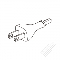 Taiwan/ Japan 2-Pin 2 wire Straight AC Plug