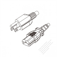Taiwan 3-Pin Plug to IEC 320 C13 Power cord set (HF - Halogen free) 1.8M (1800mm) Black (H05Z1Z1-F 3X0.75MM )