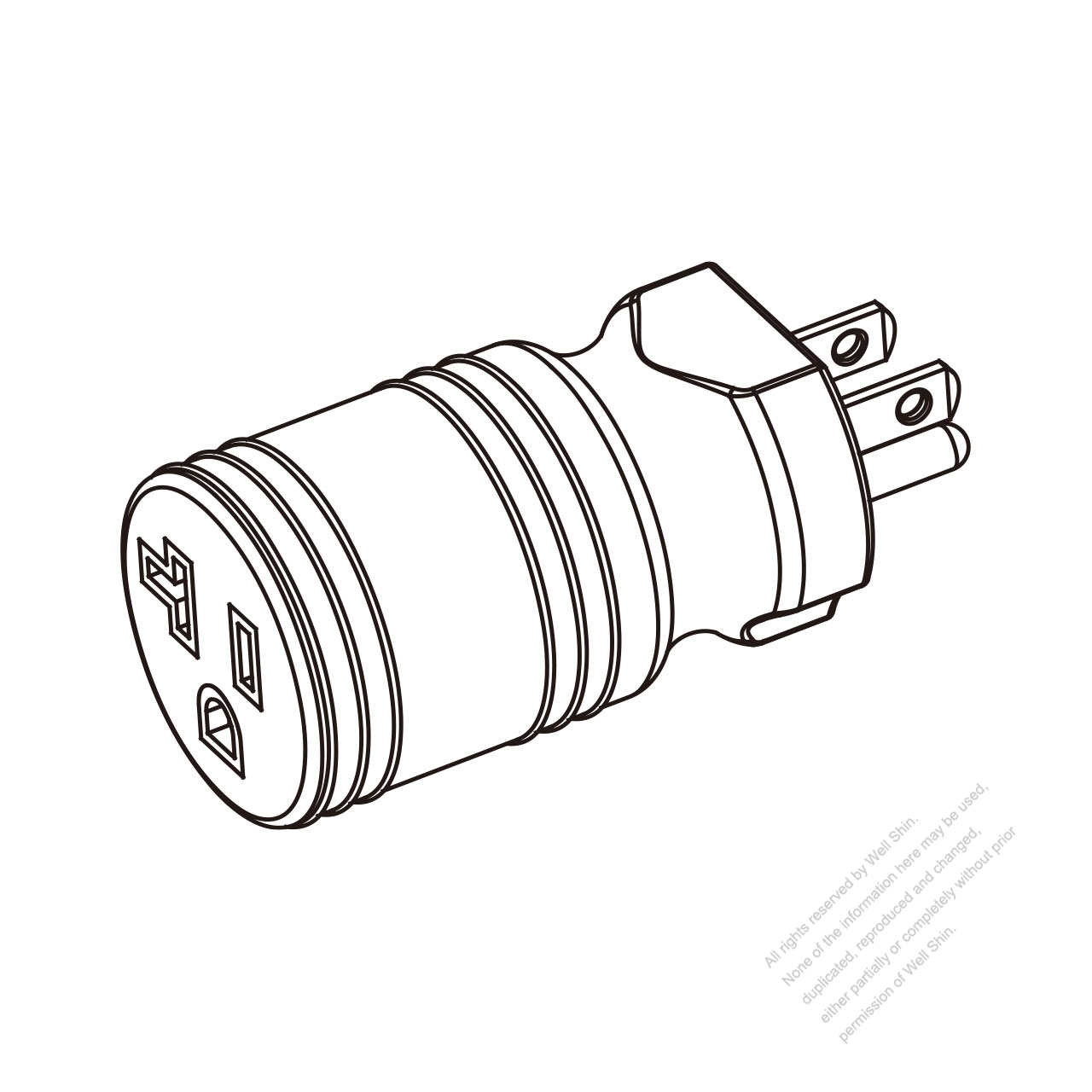 Nema L6 30 Plug Wiring Diagram furthermore Index additionally 3 as well Vitek VT BNC CRIMP FEM Connector p 91976 in addition Twist Lock Plug Wiring Diagram. on nema 5 20p