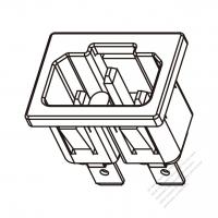 IEC 320 (C16A) 家電製品用ACソケット・ 10A/ 15A