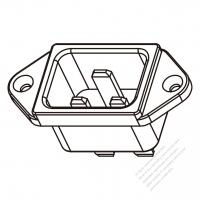 IEC 320 (C20) 家電製品用ACソケット・ ネジ穴付・ 16A/20A 250V