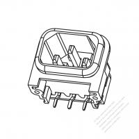 IEC 320 (C14) 家電製品用ACソケット・ 10A 250V