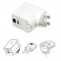 5V/ 1A USB充電 + WIFI 分享器・北美/欧州/英国/豪州插頭変換USB 2.0アダプタ組