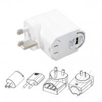 5V / 1 A 北美/欧州/英国/豪州+ USB 2.0 アダプタ組