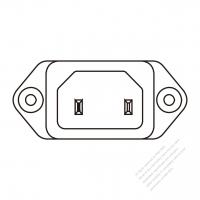 IEC 320 (C18) 家電製品用ACソケット・ 10A 250V