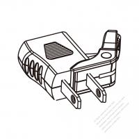 ACアダプタ・北米NEMA 1-15P プラグ変換NEMA 1-15Rコネクタ・2 P->2 P(超音波アセンブリ引き出しが簡単なタイプ)