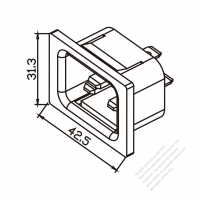 IEC 320 (C20) 家電製品用ACソケット・ 16A/20A 250V