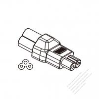 IEC 320アダプタ・ Sheet Aミッキー型プラグ 変換 C7 メガネ型 コネクタ・( ノート ・DV・デジタルカメラ適用する)・3 P->2 P